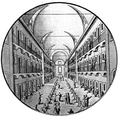 VI. Το σωφρονιστικό κατάστημα της Ρώμης ή άσυλο του San Michele, έργο του Carlo Fontana το 1704.