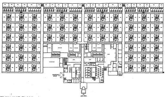 XIV. Κάτοψη ισογείου τουρκικής φυλακής τύπου F.
