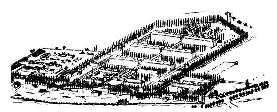 XX. Η φυλακή Fresnes, που κατασκευάστηκε το 1898 κοντά στο Παρίσι και σχεδιάστηκε από τον Francisque Henri Poussin. Πρόκειται για την πρώτη φυλακή τύπου τηλεγραφόξυλου (telephonepole).
