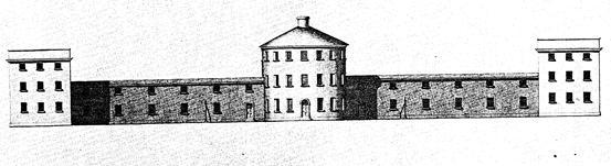 XΧΙV. Όψη από το εσωτερικό της Κομιτειακής Φυλακής του Fisherton Anger, η οποία ανακατασκευάστηκε το 1817 από τον Richard Ingleman.