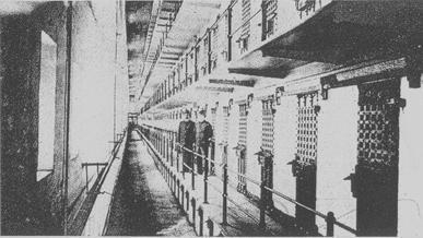 XXVI. Το εσωτερικό της πτέρυγας κελιών της φυλακής Sing-Sing.
