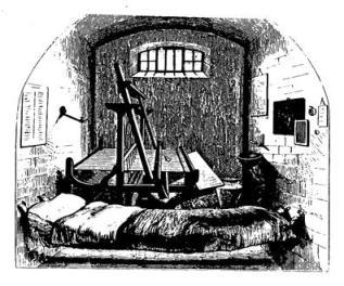 ΧΧΧΙΙI. Αργαλειός στο εσωτερικό απομονωτικού κελιού της φυλακής Pentonville, ώστε ο κρατούμενος να παραμένει σε αυτό και κατά τη διάρκεια της εργασίας του.