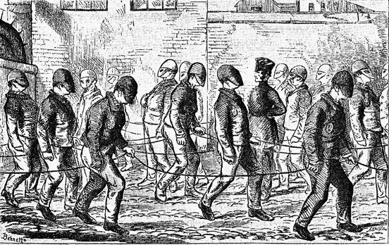 XΧΧIV. Ο προαυλισμός των κρατούμενων στην Πρότυπη Φυλακή του Pentonville το 1856.