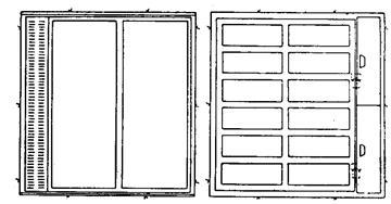 XLIV. Σχέδιο παραθύρου τύπου Bunner.