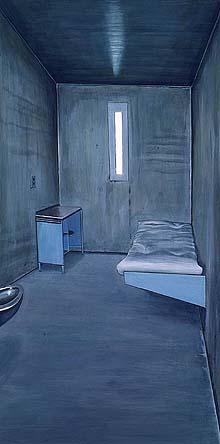 XLV. Τυπικό παράθυρο κελιού σε σύγχρονη φυλακή απομόνωσης στις ΗΠΑ.