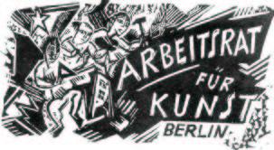 Ξυλογραφία για την εικονογράφηση της μπροσούρας του Arbeitsrat für Kunst