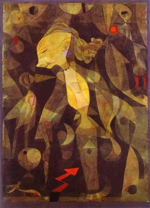 Paul Klee, Η περιπέτεια μιας νεαρής κυρίας, 1921