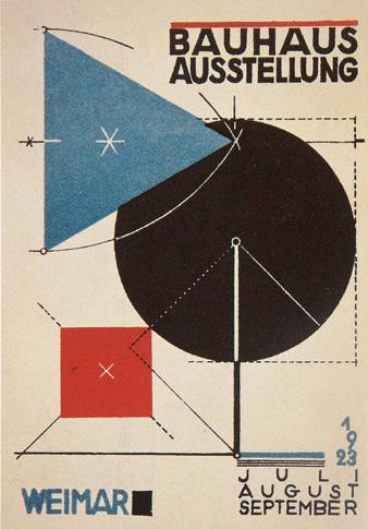 Αφίσα για την έκθεση της σχολής του Bauhaus, Ιούλιος - Αύγουστος 1923