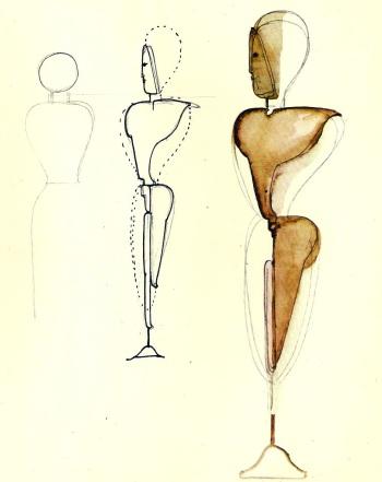 Oskar Schlemmer, σκίτσα, 1921-1924