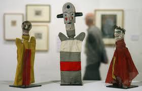 Paul Klee,, φιγούρες κουκλοθεάτρου που έφτιαξε για το γιο του Felix, 1916-1925