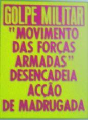 Εφημερίδα ανακοινώνει το πραξικόπημα των M.F.A.