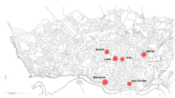 Περιοχές παρέμβασης του προγράμματος S.A.A.L. στο Οπόρτο
