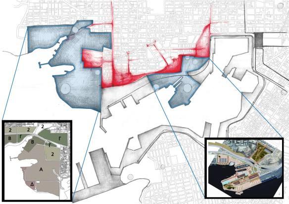 Εικόνα 2: Ανάλυση του αποκλεισμού της Δραπετώνας - Υπάρχων σχεδιασμός έργων υποδομής.