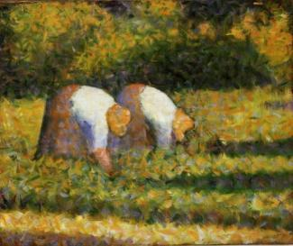 3. Georges Seurat, Paysanes au travai, 1882-83, Guggenheim Museum.