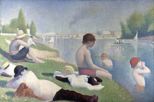 4. Georges Seurat, Une baignade à Asnières, 1984, The National Gallery.