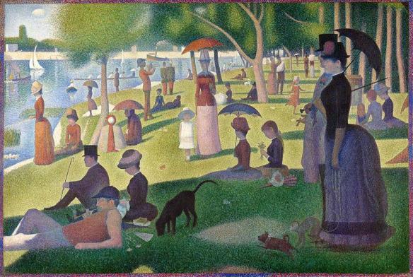 6. Georges Seurat, Un dimanche après-midi à l'Île de La Grande Jatte, 1884- 1886, Art Institute of Chicago.