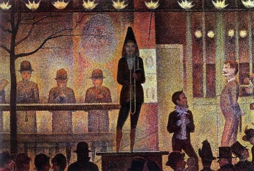 7. Georges Seurat, La Parade de Cirque, 1888, Metropolitan Museum of Art