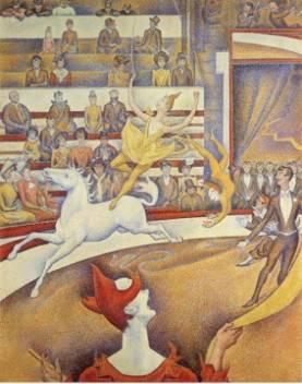 9. Georges Seurat, Cirque, 1891, Musée d'Orsay.