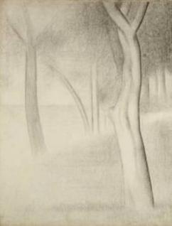 11. Georges Seurat, L' arbre, 1884, Art Institute of Chicago.