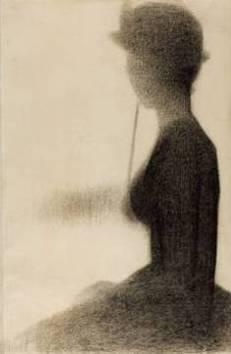 10. Georges Seurat, Jeune femme à l'ombrelle, 1884, Art Institute of Chicago.