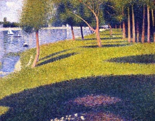 13. Georges Seurat, Paysage, L'île de La Grande Jatte, 1884, ιδιωτική συλλογή.