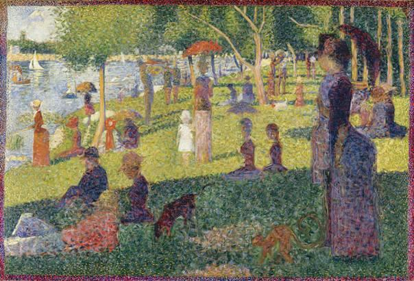 14. Georges Seurat, Étude d'ensemble, 1884, The Metropolitan Museum of Art.