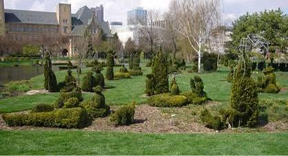 17. James Mason, Topiary of La Grande Jatte, 1989-1992, Old Deaf School Park, Ohio.