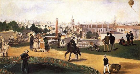 18. Édouard Manet, Vue de l'exposition de 1867, 1867, Nasjonalgalleriet - Oslo.