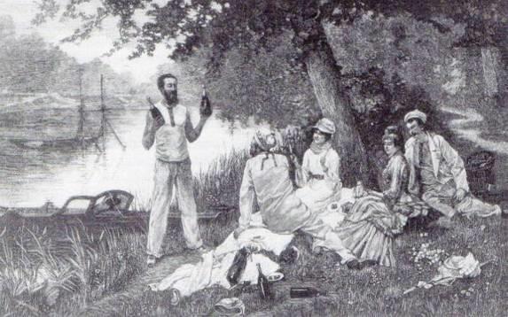19. Γκραβούρα από τον πίνακα του Roger Jourdain, Le Dimanche, L' Illustration, 15 Ιουνίου 1878.