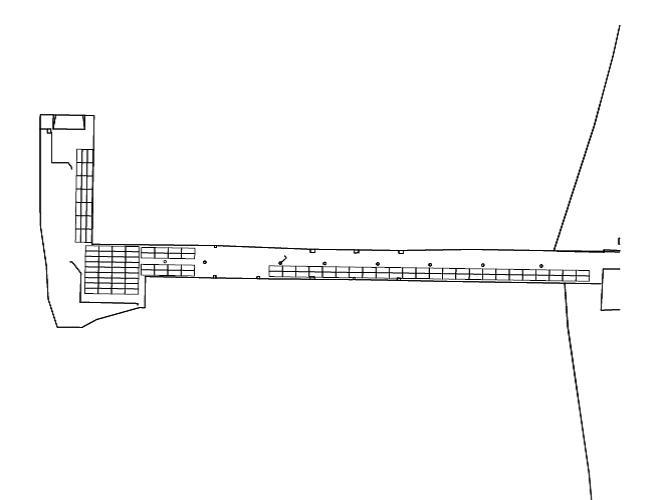 Διάγραμμα 2: Ενδεικτική χωροθέτηση των οχημάτων σε αναμονή για επιβίβαση στο χώρο του λιμενοβραχίονα.