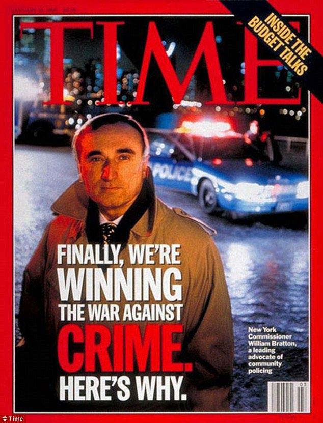 Ο αρχηγός της αστυνομίας της Νέας Υόρκης, W. Bratton, στο εξώφυλλο του περιοδικού το 1996 (πηγή: http://www.dailymail.co.uk/news/article-2518823/Bill-Blasio-picks-William-Bratton-man-cleaned-New-York-NYPD-commissioner-again.html)
