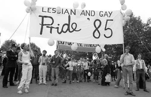 Lesbian & Gay Pride, London 1985. (Photo by: Photofusion/UIG via Getty Images)