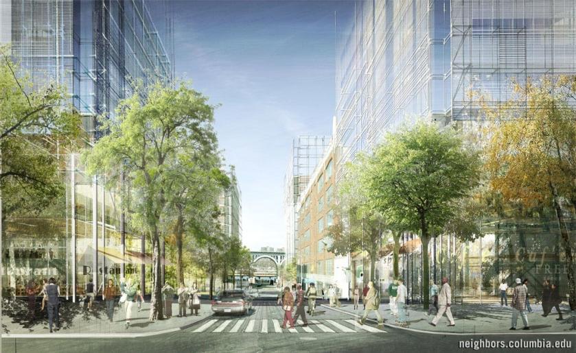 Εικόνα 6: Προοπτικό σχέδιο πρότασης για την επέκταση του πανεπιστημίου Columbia.