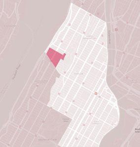 Εικόνα 7: Το Manhattanville Project στην ευρύτερη περιοχή του Harlem.