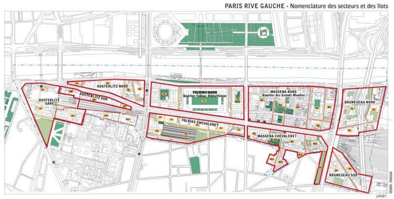 Εικόνα 20: Διαχωρισμός της περιοχής ανάπλασης σε τομείς.