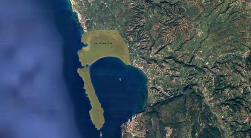 Εικόνα 3: τμήματα της περιοχής μελέτης που είναι ενταγμένα στο πρόγραμμα «NATURA 2000» (http://www.oikoskopio.gr/)