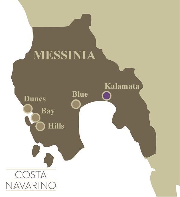 Εικόνα 4: η χωροθέτηση των τεσσάρων τμημάτων της ΠΟΤΑ (πηγή: www.costanavarino.com)