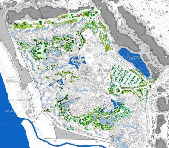 Εικόνα 5: το masterplan του Navarino Dunes, 2007. Έργο του γραφείου Atelier Jean Mus et cie (πηγή: www.jeanmus.fr)