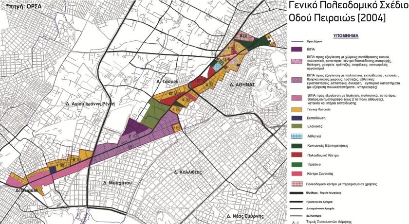 Γενικό Πολεοδομικό Σχέδιο Οδού Πειραιώς [2004]